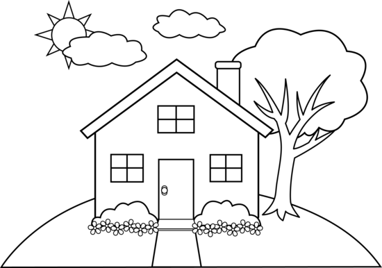 in - Simple Drawing House